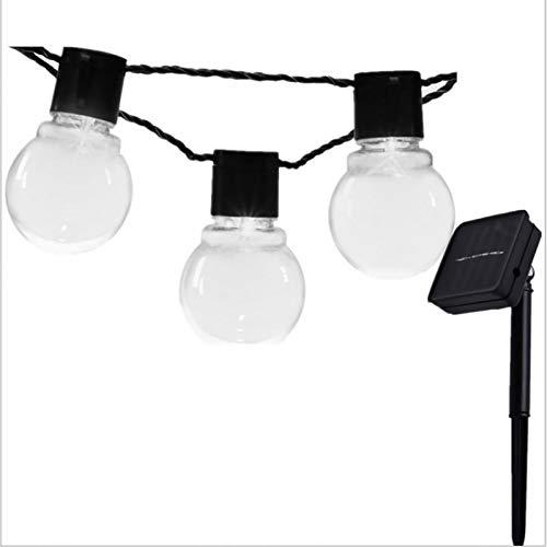 'N/A' Cadena De Luz De Cielo Estrellado Navideño Lámpara De Cuento De Hadas LED para Niñas Pared De Dormitorio Boda Decoración Interio(Color:Blanco,Size:Transparent Bulb 5 Meters 20 Lights + Solar)