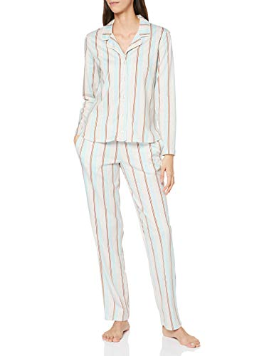 Seidensticker Damen Women Pyjama Long Pyjamaset, hellblau, 048