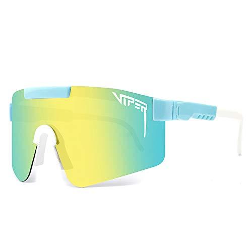 Gafas de sol polarizadas polarizadas para hombre y mujer, gafas de sol polarizadas, color amarillo