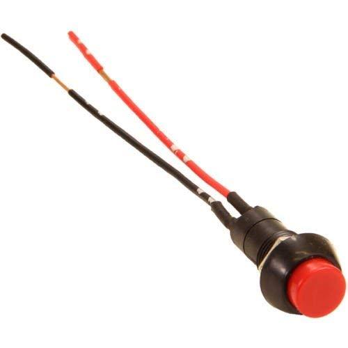 Bouton-poussoir rond pour voiture 12-24 V Rouge/noir