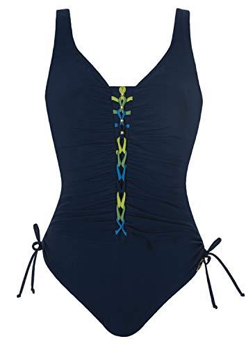 Sunflair Badeanzug French Leaf Shapewear Cup F, Farbe Nachtblau, Größe 48