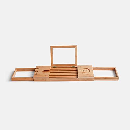 Bathroom shelf Support de Baignoire pour Salle de Bain, Support de téléphone Portable pour Le Bain, Support de Rangement Multifonctions rétractable/Style: A
