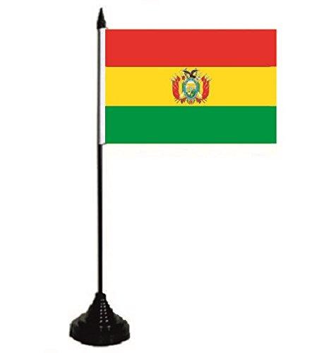 U24 Tischflagge Bolivien Flagge Fahne Tischfahne 10 x 15 cm