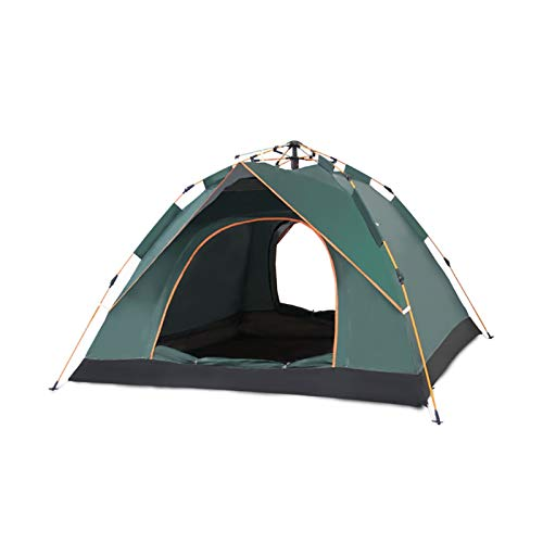 WANYI Family 3-4People Portable Folding Tent,Green Outdoor Waterproof Folding Pop Up Tent for Camping Hiking Traveling Tent Sunshade, Automatic Aluminum Pole (Color : Blue, Size : 2people)
