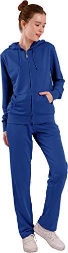 Velours-Trainingsanzug für Damen, 2-teilig, Jogging-Outfits, Jogging-Sweatanzüge, weiche Sport-Anzüge - mehrfarbig - Klein