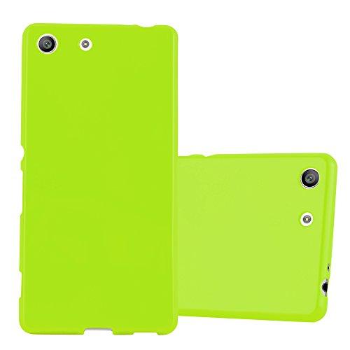 Cadorabo Funda para Sony Xperia M5 en Jelly Verde - Cubierta Proteccíon de Silicona TPU Delgada e Flexible con Antichoque - Gel Case Cover Carcasa Ligera