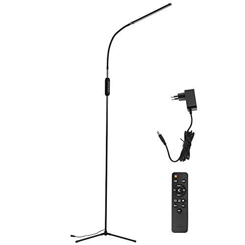 Cikonielf Lampe de Livre à LED Lampe de Sol innovante Noire 12 W Télécommande à LED Moderne Lampe de Lecture à Base de 3 fourches Lampe de Lecture Éclairage intérieur 110-240 V(110 à 240 V)
