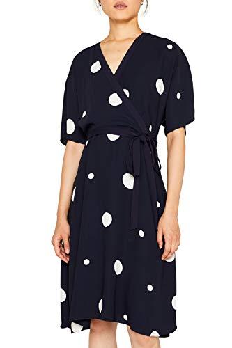 ESPRIT Collection Damen 099Eo1E025 Kleid, Blau (Navy 400), (Herstellergröße: 40)