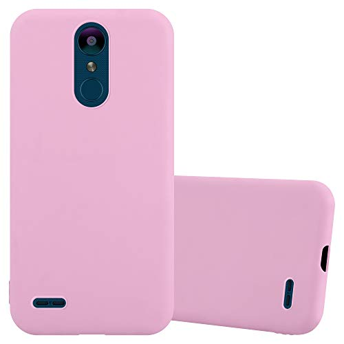 Cadorabo Hülle für LG K8 2018 / K9 2018 in Candy ROSA - Handyhülle aus flexiblem TPU Silikon - Silikonhülle Schutzhülle Ultra Slim Soft Back Cover Hülle Bumper