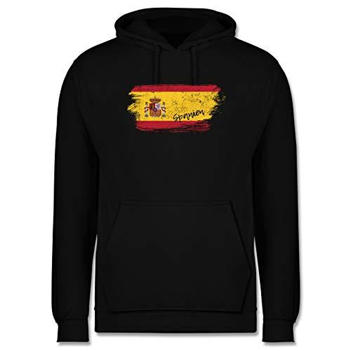 Shirtracer Handball WM 2021 - Spanien Vintage - 4XL - Schwarz - WM - JH001 - Herren Hoodie und Kapuzenpullover für Männer