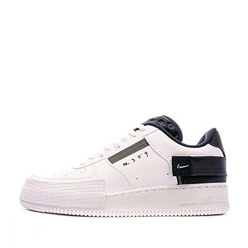 Nike Scarpe da corsa da uomo Af1-type, White Volt Black White., 42.5 EU