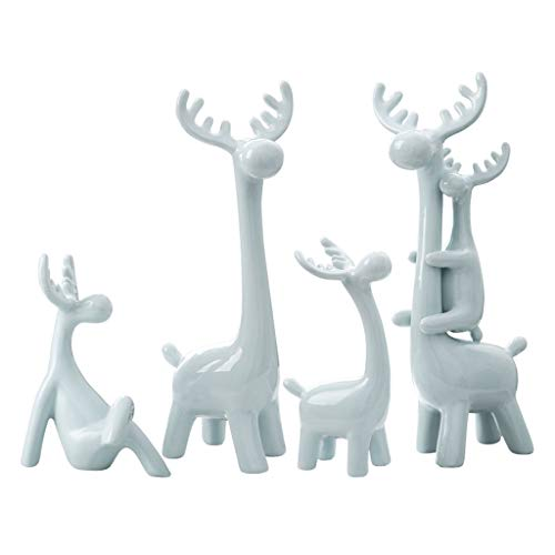crafts Sculpture Reindeer House Simple Modern Living Room Wine Cabinet Home Decoration Decoration Creative Decoration Room Decoration Decoration (Capacity : 5)