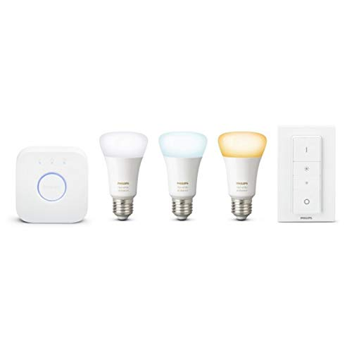 Philips Hue White Ambiance Starter Set 3xE27 LED-lamp BT + Bridge + dimmer