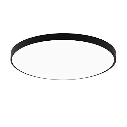 BFMBCHDJ Plafoniera a led 220V Luce moderna Soggiorno Illuminazione rotonda e quadrata Lampada da camera da letto a led ultrasottile Luce bianca fredda 15W 22x22cm
