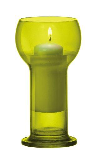 Bormioli Rocco for Fitting Gifts 12 x Superbe Vert en verre coloré, grande flottant, bougeoirs et bougies (valeur exceptionnelle de vente d'été)