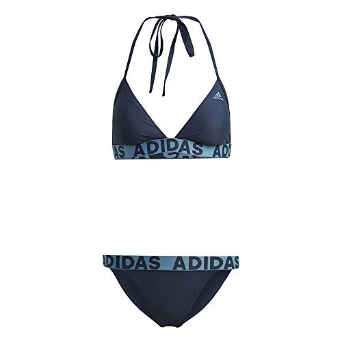 adidas Neckholder Biki Bikini für Damen, Damen, Bikini, GM2470, Azmatr, 44