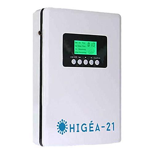 Higéa500 Life: Generador de Ozono Doméstico Digital, Purificador Aire y Agua, Portátil Multifunción 500 MG/h, Temporizador para el Hogar, Cocina, Dormitorio, Salas, Baño y Oficina, Vegetales,Carne.