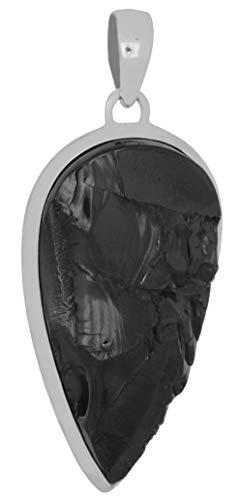 ERCE elite shungit colgante gota, plata de ley 925, longitud 4,6 cm