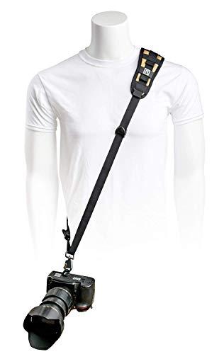 BlackRapid Delta - Eslinga para cámara réflex digital, cámara réflex y cámaras sin espejo - Coyote/negro - con hombro recto para fotógrafos diestros y zurdos