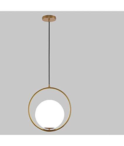 lampadario a sospensione palla Lampadario Soffitto Sfera a Sospensione Moderno Stile Creativo Anello Minimal Dorato in ferro battuto e laccato oro