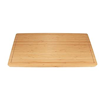 BambooMN Brand Bamboo Burner Cover/Cutting Board for Viking Cooktops New Vertical Cut Large Extra Long  23 x11.78 x0.75
