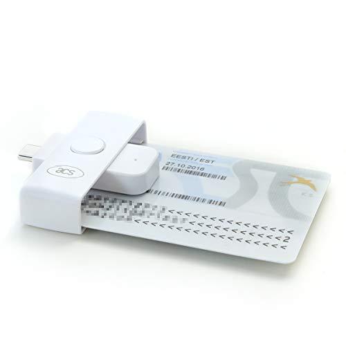 ACS ACR39U-NF PocketMate II USB-C Lettore di Smart Card Reader per CNS, CRS, Firma Digitale, Piccolo Compatto, Bianco
