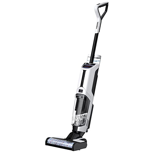 ACEKOOL Wet Dry Vacuum Cleaner, Cordless All in One Wet Dry Vacuum Cleaner and Mop with Detachable Battery Rechargeable for Hard Floors & Area Rugs, Voice Assistant, Self-Cleaning, Water Spray
