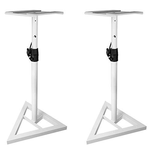 speaker stands for studios Rockville Pair Studio Monitor Speaker Stands w/Adjustable Height, White (RVSM1