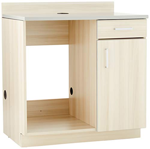 Safco Products Modular Hospitality Breakroom Base Cabinet, Appliance, Vanilla Stix Base/Gray Top