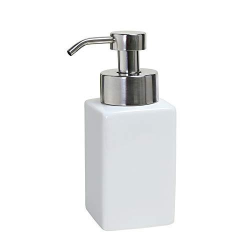 JKCKHA Cerámica dispensador de jabón presionar Botella Lavado de Cara Lanza Espuma desinfectante de la Mano Loción Gel de Ducha del champú Botella Lavado de Cara Mousse Espuma