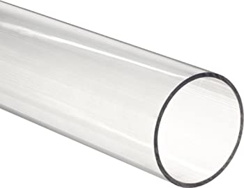 Small Parts - TPC-063/12-36 Clear Polycarbonate Tubing 5/8  ID 3/4  OD 1/16  Wall 3  Length