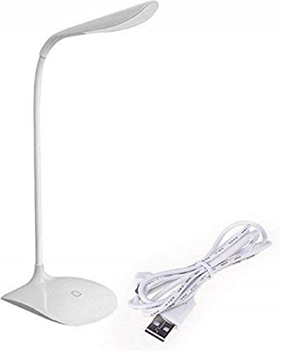 DRSM DARSHANAM World Student Study Reading Dimmer Rechargeable LED Touch on/Off Switch Desk Table Lamps (White)