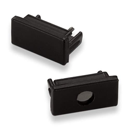 Set de embouts de fermeture pour SO-TECH® DEL profilé 11 noir (2x fermés)