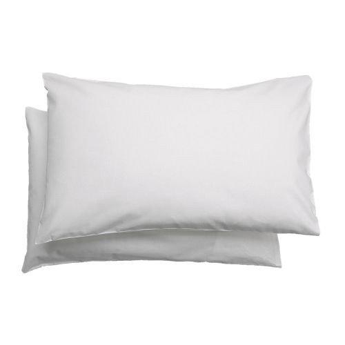IKEA kinderhoofdkussenovertrek 'Len' set van 2 hoofdkussenovertrek voor babybed - 35 x 55 cm - 100% katoen - wit