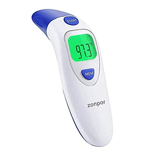 Forehead Thermometer for Adults Kids, Ear Thermometer for Fever Forhead Temperature Thermometer - Medical Digital Infrared Temporal Thermometer, Scan Head Thermometer for Baby, Toddler