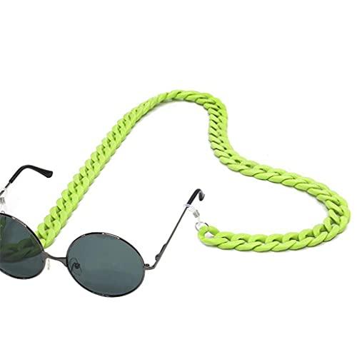 YFQHDD Gafas de Lectura Gafas de Cuello Colgantes Cadena Cadena Acrílico Gafas de Sol Cadena Mujeres Eyeeglasses Correa (Color : C)