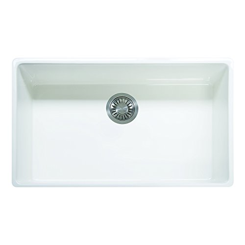 Franke FHK710-33WH Farm House 33' x 20' x 10 1/8' Apron Front Single Bowl Fireclay Kitchen Sink...