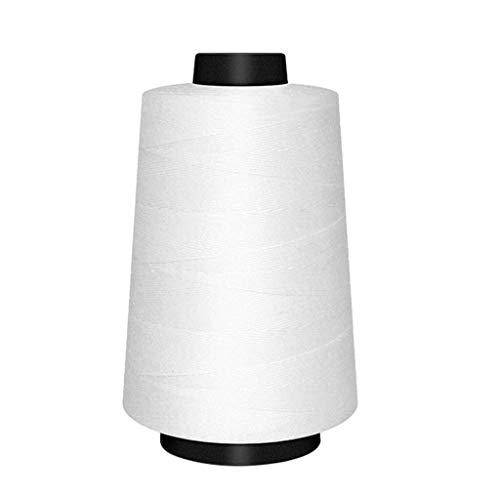 Qitao Enhebrar 1 / 2pcs 850 Yardas de Hilo de Coser de poliéster Hilo Establecer Fuerte y Duradero Blanco del Negro Hilos de Coser for Manos Costuras Máquinas (Color : 1pcs)
