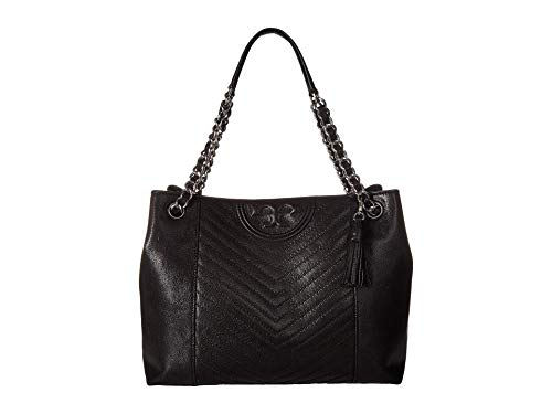 Tory Burch Women's Fleming Distressed Tote, Black, One Size