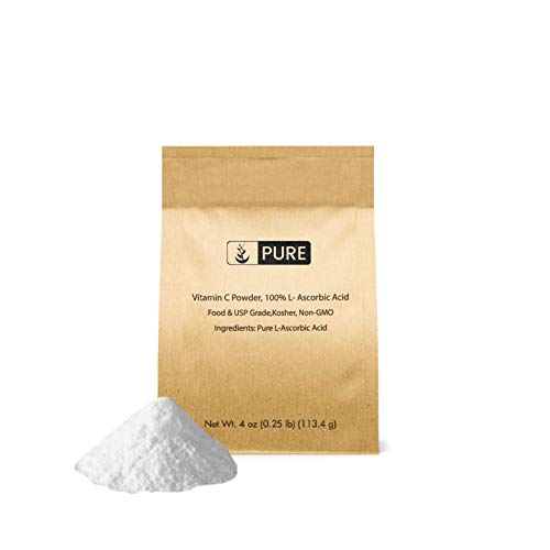 Pure Vitamin C Powder (4 oz.), Eco-Friendly Packaging, L-Ascorbic Acid, Antioxidant, Boost Immune System, DIY Skin Care