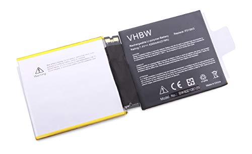 vhbw Batterie 4200mAh (7.4V) pour Tablette, Pad, PC Microsoft Surface 2 1572 comme Papio, GB-S20-3096AS-0100.