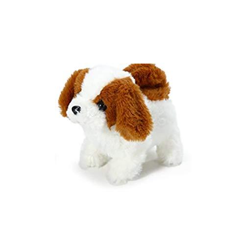Realistischer Hund, batteriebetriebenes elektrisches Plüschtier Hund, elektronisches interaktives Spielzeug kann bellen und laufen Simulation Hund Plüschtier Welpe Puppe Kinder Geschenk für Kinder
