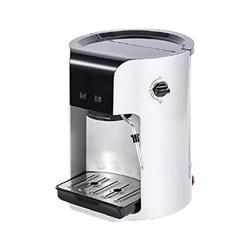 ekspres do kawy Ekspres do espresso, domowy ekspres do kawy z pompką, przelewowy ekspres do kawy, parowa kawa z mlekiem, 220 mm × 260 mm × 280 mm, biały i srebrny, opcjonalnie (kolor: biały)