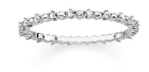 THOMAS SABO Damen-Ringe 925 Sterlingsilber mit '- Ringgröße 54 TR2153-051-14-54