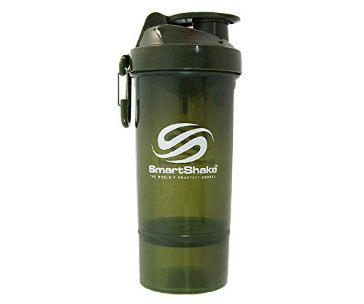 ノイズタッチラフSmartShake(スマートシェイク) SmartShake ORIGINAL2GO ONE 800ml Army Green 多機能プロテインシェイカー アーミーグリーン 800ml大容量 コンテナ1段タイプ