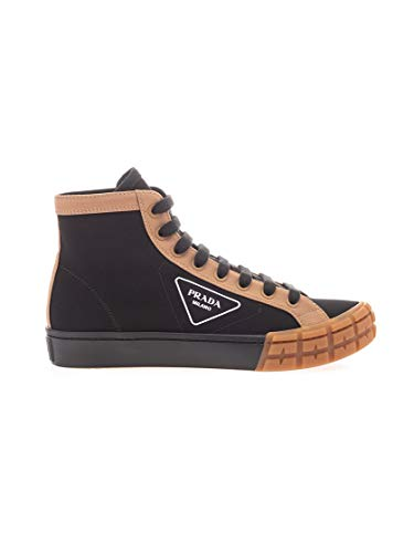 Luxury Fashion | Prada Heren 2TG15889CF0U69 Zwart Katoen Hi Top Sneakers | Lente-zomer 20