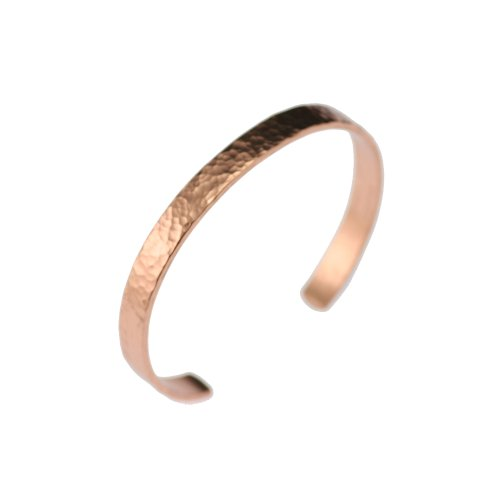 Hammered Copper Cuff Bracelet Durable Copper - Lightweight - 100% Uncoated Solid Copper (7 Inches)