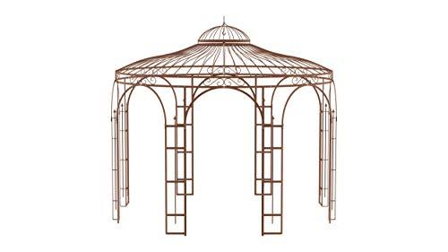 ELEO Florenz wunderschöner Gartenpavillon Winterfest I Stabiler Rundpavillon Ø 3,7 m I Stabiler Rosenpavillonl I Pavillon für Garten (Pavillon Florenz, Unbeschichtet)