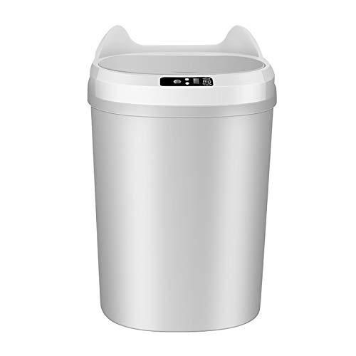 WXXMZY Papelera inteligente con detección automática, se puede utilizar en la cocina, dormitorio, sala de estar, inodoro, etc. (color: gris)