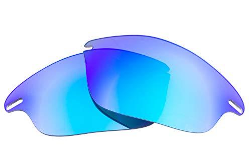 LenzFlip Fast Jacket 交換レンズ 偏光 マルチオプション Oakley/オークリー Fast Jacket(Gray Polarized with BLUE Mirror)